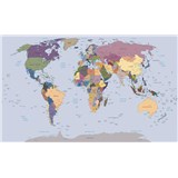 Vliesové fototapety mapa světa rozměr 104 cm x 70,5 cm