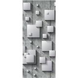 Vliesové fototapety 3D čtverce rozměr 91 cm x 211 cm