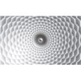 Vliesové fototapety 3D abstrakce šedo-bílá rozměr 312 cm x 219 cm