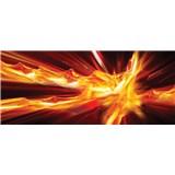 Vliesové fototapety abstrakce ohnivá rozměr 250 cm x 104 cm