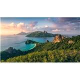 Vliesové fototapety Hefele opičí ostrov, rozměr 350 cm x 280 cm