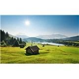 Vliesové fototapety Hefele horská louka, rozměr 450 cm x 280 cm