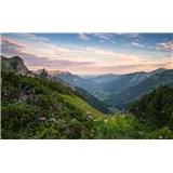 Vliesové fototapety Hefele přírodní park Allgäu High Alps, rozměr 450 cm x 280 cm