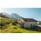 Vliesové fototapety Hefele pohoří Alm, rozměr 450 cm x 280 cm