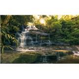 Vliesové fototapety Hefele zlaté vodopády, rozměr 450 cm x 280 cm