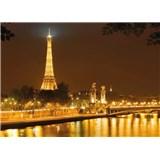 Fototapety Eiffelova věž v noci rozměr 366 cm x 254 cm