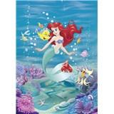Fototapety Disney Malá mořská víla Ariel zpívá rozměr 184 cm x 254 cm