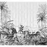 Vliesové fototapety Disney Lion King monochrome rozměr 300 cm x 280 cm