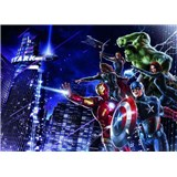 Fototapeta Avengers město v noci rozměr 254 cm x 184 cm