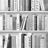 Papírové tapety na zeď Freestyle knihovna černo-šedá