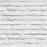 Papírové tapety na zeď Freestyle cihlová stěna bílá
