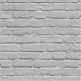 Papírové tapety na zeď Freestyle cihlová stěna šedá