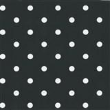 Samolepící tapety puntíky černé 45 cm x 15 m