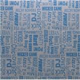 Samolepící tapety text modrý 45 cm x 15 m