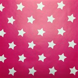 Samolepící tapety hvězdičky růžový podklad 45 cm x 15 m - 3,5 cm velikost hvězdičky