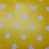 Samolepící tapety hvězdičky žlutý podklad 45 cm x 15 m
