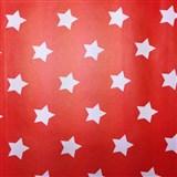 Samolepící tapety hvězdičky červený podklad 45 cm x 15 m