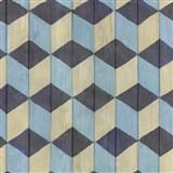 Samolepící fólie skládané kostky šedo-modré - 45 cm x 15 m