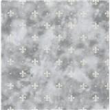 Samolepící fólie kašmírový vzor šedý na tmavém podkladu - 45 cm x 15 m