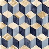 Samolepící fólie skládané kostky modro-hnědé - 45 cm x 15 m
