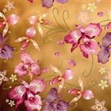 Samolepící fólie růžová orchidej zlatá - 45 cm x 5 m