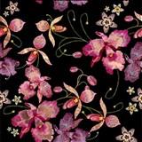 Samolepící fólie růžová orchidej černo-niklová - 45 cm x 5 m