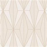Vliesové tapety na zeď IMPOL Giulia Art-Deco vzor béžový s krémovými konturami
