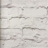 Vliesové tapety na zeď Wood´n Stone cihlová zeď bílo-hnědá