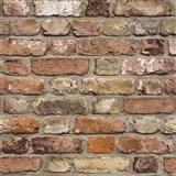 Vliesové tapety na zeď Facade cihla červeno-hnědá