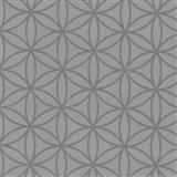 Vliesové tapety na zeď Graphics Alive - geometrické květy stříbrné