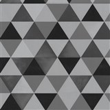 Vliesové tapety na zeď Graphics Alive - geometrický vzor černo-šedý