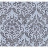 Vliesové tapety na zeď Graziosa zámecký vzor hnědý na modrém podkladu