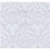 Vliesové tapety na zeď Graziosa zámecký vzor bílý na šedém podkladu MEGA SLEVA
