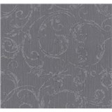Vliesové tapety na zeď Graziosa ornament šedo-fialová
