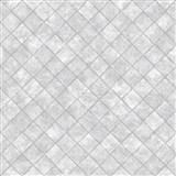 Vliesové tapety na zeď Hexagone čtverce šedé s lesklým efektem