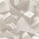Vliesové tapety na zeď Hexagone 3D kostky světle hnědé