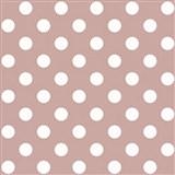 Papírová tapeta na zeď růžová s bílými lesklými puntíky
