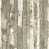Vliesové tapety na zeď Home dřevěný obklad s kůrou