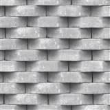 Vliesové tapety na zeď Horizons 3D cihla šedá