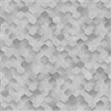 Vliesové tapety na zeď IDEA OF ART plástve světle šedé