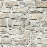 Vliesové tapety na zeď Il Decoro ukládaný kámen hnědo-šedý