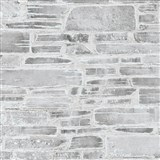 Papírové tapety na zeď Il Decoro kámen světle šedý