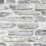 Vliesové tapety na zeď Il Decoro kamenná zeď světle šedá