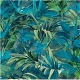 Vliesové tapety na zeď IMPOL Jungle Fever - listy zeleno-tyrkysové