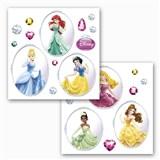 Samolepky na sklo Disney Princess rozměr 31 cm x 31 cm