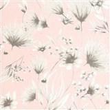 Vliesové tapety na zeď G. M. Kretschmer Sommeraktion květy hnědé na růžovém podkladu