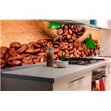 Samolepící tapety za kuchyňskou linku kávová zrnka rozměr 180 cm x 60 cm