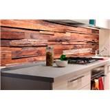 Samolepící tapety za kuchyňskou linku dřevěná stěna rozměr 180 cm x 60 cm