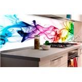 Samolepící tapety za kuchyňskou linku kouř barevný rozměr 180 cm x 60 cm