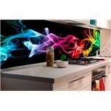 Samolepící tapety za kuchyňskou linku kouř černý rozměr 180 cm x 60 cm